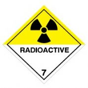 Hazard safety sign - Radioactive (7) 060